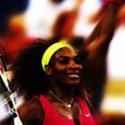Serena Williams Another Record Set Poster