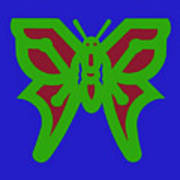 Serendipity Butterflies Blueredgreen 6of15 Poster