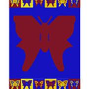 Serendipity Butterflies Brickgoldblue 7 Poster