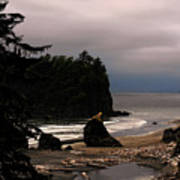 Serene And Pure - Ruby Beach - Olympic Peninsula Wa Poster