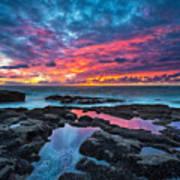 Serene Sunset Poster by Robert Bynum