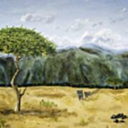 Serengeti Painting Poster