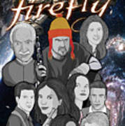Serenity Firefly Crew Poster by Gary Niles
