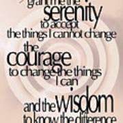 Serenity Prayer 06 Poster