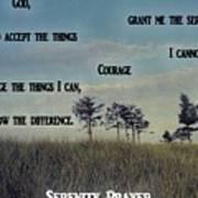Serenity Prayer Field Poster