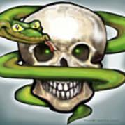 Serpent N Skull Poster