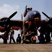 Servicing An A-20 Bomber Langley Field Va Poster