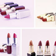 Set Of Lipsticks For Woman Beauty Poster