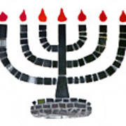 Seven-branched Temple Menorah Poster by Christine Till