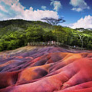 Seven Colored Earth In Chamarel. Mauritius Poster