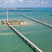 Seven Mile Bridge Crossing Pigeon Key Poster