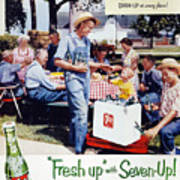 Seven-up Soda Ad, 1954 Poster