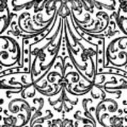 Seventeenth Century Parterre Pattern Design Poster