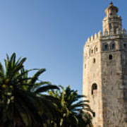Seville - A View Of Torre Del Oro 2 Poster