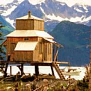Seward Alaska House Of Stilts Poster