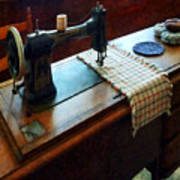 Sewing Machine And Pincushions Poster