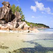 Seychelles Rocks Poster