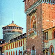 Sforza Castle Milan Italy Poster