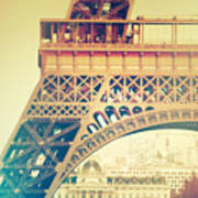 Shabby Chic Eiffel Tower Detail Paris Poster
