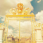 Shabby Chic Gold Gate Versailles Poster