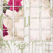 Shabby Cottage French Doors Poster