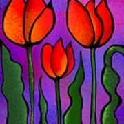 Shades Of Tulips Poster