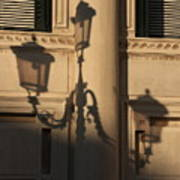 Shadow Of A Lamp Post In Venice Poster