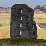 Shadow On Remaining Medieval Castle Wall Poster