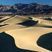 Shadows And Light On The Sand Dunes Poster