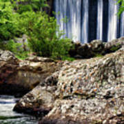Shady Lake Falls Poster by Lana Trussell