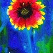 Shaggy Moon For A Shaggy Flower Poster