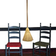Shaker Chairs And Broom Poster