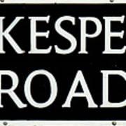 Shakespeare Road Uk Poster