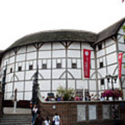 Shakespeare's Globe Theater Poster by Charles  Ridgway
