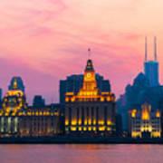 Shanghai Sunset Poster