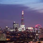 Shard Oxo Tower London Eye Walkie Talkie From Balfron Tower Poster