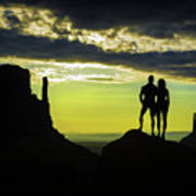 Sharing A Monument Valley Sunrise Poster