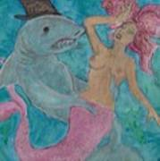 Shark And The Mermaid  Poster