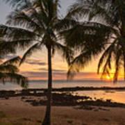 Sharks Cove Sunset 3 - Oahu Hawaii Poster