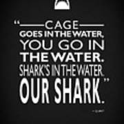 Sharks In The Water Poster