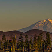 Mt Shasta From Hat Creek Poster