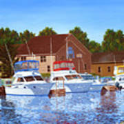 Sheboygan River Marina Poster