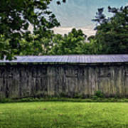 Shed At Camp Pecometh Poster