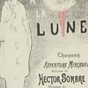 Sheet Music Aubade A La Lune Poster