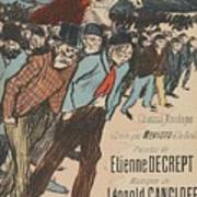 Sheet Music Le Roi Misere By Etienne Decrept And Leopold Gangloff, Performed By Mevisto Theophile Al Poster