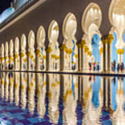 Sheikh Zayed Mosque Reflections Poster