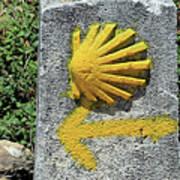 Shell And Arrow Marker, El Camino, Spain Poster