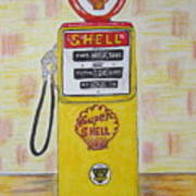 Shell Gas Pump Poster
