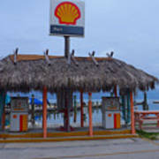 Shell Tiki Hut Station Poster