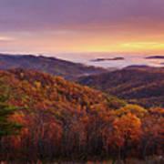 Shenandoah Autumn Sunrise Poster